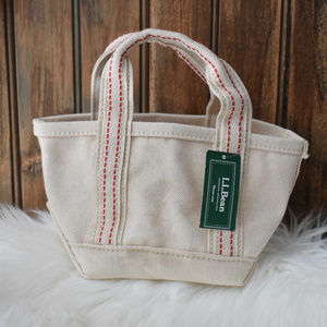 L.L. Bean Mini Canvas Gift Tote NEW!